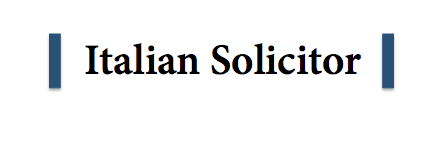 Italian Solicitor